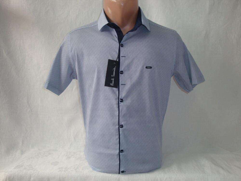 Мужская рубашка с коротким рукавом на кнопках Paul Semih, Турция. Разные цвета. фото №1