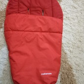 Теплый зимний красный конверт Mothercare / чехол на ножки / в коляску
