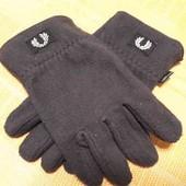 Фирменные флисовые перчатки Fred Perry