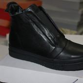 Новинки.Ботинки -кеды, натуральная кожа, с 36-41р.