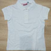 Поло белое для девочки 6-8, 8-10 и 10-12 лет ТМ Pepperts