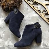 Замшевые синие ботинки River Island рр 41