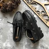 Кожаные туфли-топ сайдеры р-р 40-41