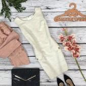Эффектное платье-футляр с карманами Orsay из блестящей фактурной ткани  DR4658