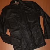 кожаная мужская куртка размер м-л