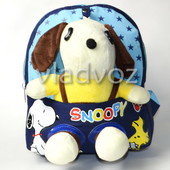 Детский рюкзак для мальчиков с мягкой игрушкой собачкой синий Snoopy 3