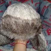 Очень тёплая шапка на девочку Reacocks,универсал
