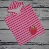 Фирменное Детское полотенце пончо Клубничка на пляж или в бассейн