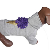 Толстовка для собак из трикотажа с начесом Dogs Bomba