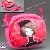 Детская сумка на молнии, сумочка на ремешке, плюш