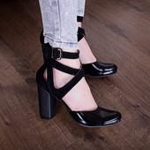 Новинка туфли натуральная замша / кожа код ЛЛ 28259