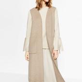 Пальто без рукавов Zara оригинал р.S