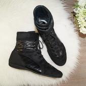 (41р./26,5см) Paul Green! Замша! Комфортные спортивные ботинки на шнуровке