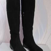 Высокие зимние сапоги, нат. замша, ТМ Солди - люксовая обувь
