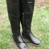 Высокие зимние сапоги, нат. кожа, ТМ Солди-люксовая обувь