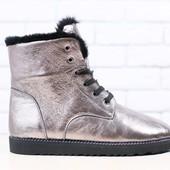 Ботинки зимние, кожаные на меху, р. 36-40, код nvk-2910