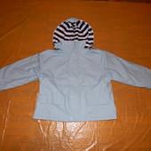 р. 104-110, Куртка непромокайка дождевик Petit, Франция, на хлопковой трикотажной подкладке