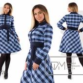 Х7728 Красивое платье с шерстью 48-54р 3 цв