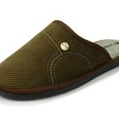 100-61-3V-043 , Тапочки мужские домашние Inblu Инблу , цвет - коричневый, размеры 40-46