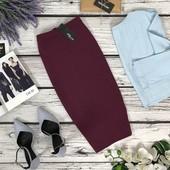Базовая трикотажная юбка Jane Norman удачной длины миди  KI47159