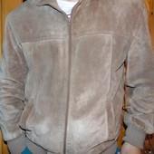 Фирменная теплая зимняя замшевая нубук  курточка Hasbro л-хл .