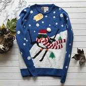 Новогодний новый свитер с 3D вязкой Cedarwood рр ХХЛ