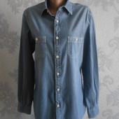 Мужская джинсовая рубашка Massimo Dutti в идеальном состоянии М