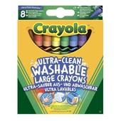 Большие смываемые восковые карандаши Crayola  мелки  8 шт