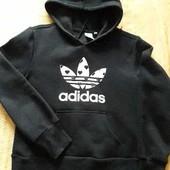 Тёплая кофта с капюшоном фирменная Adidas р.46