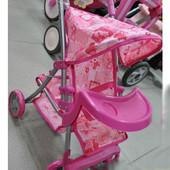 Коляска для куклы металлическая, прогулочная, поворот, корзинка 9304 BWT/025