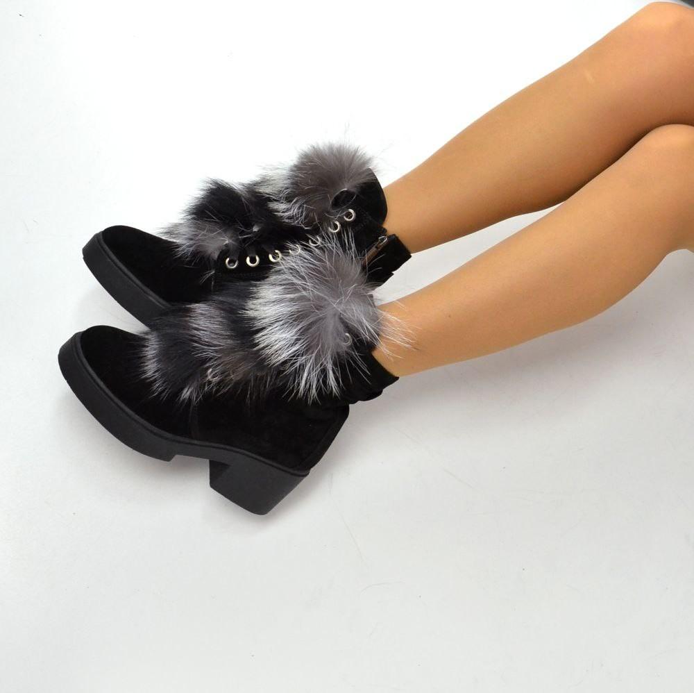 Шикарные зимние ботинки из натуральной кожи, замши с мехом кролика! украина  фото №1 0450ac841c6