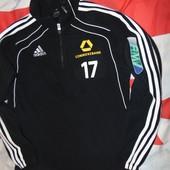 Спортивний футбольний  фирменний батник реглан кофта флис Adidas  м-л.