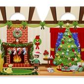Melissa & Doug Рождественские объемные многоразовые наклейки, в наличии!