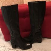 Високі чоботи ,s.Oliver,із еко шкіри,розмір 39,стелька 25,5