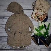 4 года 104 - 110 см Обалденная теплая парка куртка курточка моднице River Island Америка