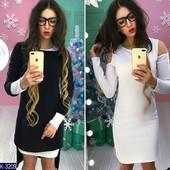 Теплое платье двойка 2 ка ангора цвета
