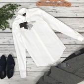 Мужская классическая рубашка Zara с узким воротником  BL4839