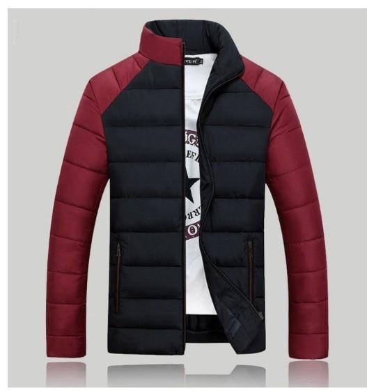 Дутая куртка без капюшоне 2 цвета фото №1