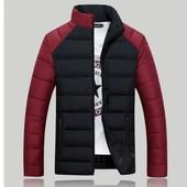 Дутая куртка без капюшоне 2 цвета