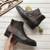 Кожаные мужские ботинки челси Bass рр 42