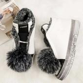 Ботинки Puma зимние, кожаные на меху, р. 36-40, код kivk-539