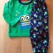 Флисовая пижамка 6-12 м для мальчика primark