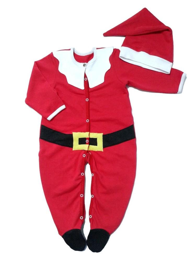 Новогодний карнавальный костюм санта для малыша рр. 56-92 фото №1