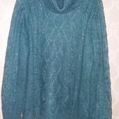 Теплый красивый женский свитер. Размер 50-52.