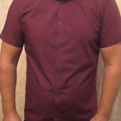 Рубашка тениска бордовая New Look man