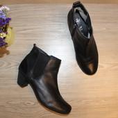 40 26,5см Caprice Кожаные ботинки на каблуке челси полусапоги