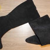 41 28,5 см Замшевые высокие сапоги Moda de Espana на фигурном каблуке
