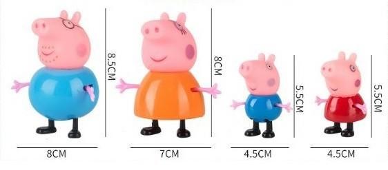 Набор фигурок peppa свинка пеппа-поросенок джордж-мама свинка-папа свин фото №2