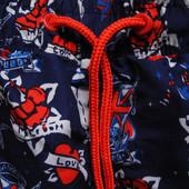 Мужские шорты синие в узорчик с рисунком красные Cedar Wood State L