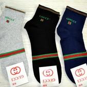 Мужские носки Gucci серый, черный, синии гучи